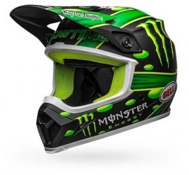 CAPACETE BELL MX 9 MIPS SHOWTIME MATTE BLACK GREEN